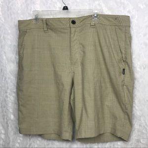 O'Neill men's khaki checked shorts standard fit 38